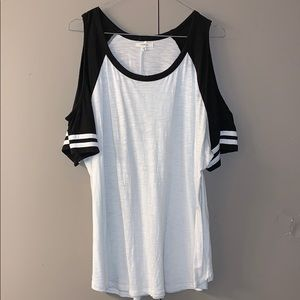 Maurices cold shoulder baseball tee